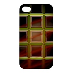 Drawing Of A Color Fractal Window Apple Iphone 4/4s Premium Hardshell Case