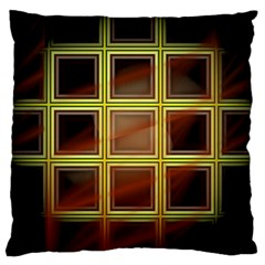 Drawing Of A Color Fractal Window Large Cushion Case (one Side)