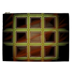 Drawing Of A Color Fractal Window Cosmetic Bag (xxl)