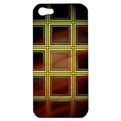 Drawing Of A Color Fractal Window Apple Iphone 5 Hardshell Case