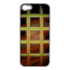 Drawing Of A Color Fractal Window Apple Iphone 5 Case (silver)