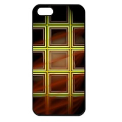 Drawing Of A Color Fractal Window Apple Iphone 5 Seamless Case (black)