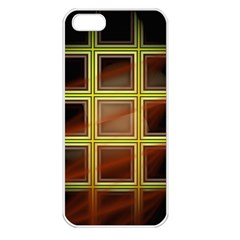 Drawing Of A Color Fractal Window Apple iPhone 5 Seamless Case (White)