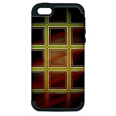 Drawing Of A Color Fractal Window Apple Iphone 5 Hardshell Case (pc+silicone)