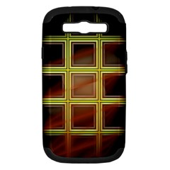 Drawing Of A Color Fractal Window Samsung Galaxy S III Hardshell Case (PC+Silicone)