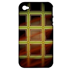 Drawing Of A Color Fractal Window Apple iPhone 4/4S Hardshell Case (PC+Silicone)