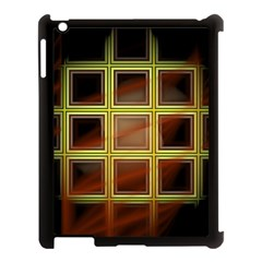 Drawing Of A Color Fractal Window Apple Ipad 3/4 Case (black)