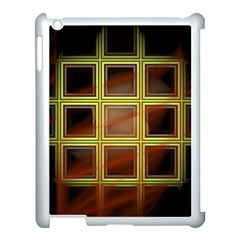 Drawing Of A Color Fractal Window Apple iPad 3/4 Case (White)