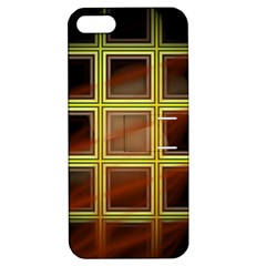 Drawing Of A Color Fractal Window Apple Iphone 5 Hardshell Case With Stand