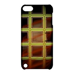Drawing Of A Color Fractal Window Apple Ipod Touch 5 Hardshell Case With Stand