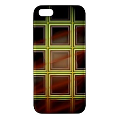 Drawing Of A Color Fractal Window Apple iPhone 5 Premium Hardshell Case