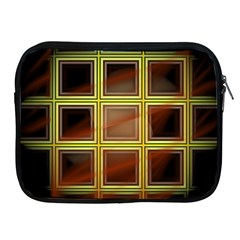 Drawing Of A Color Fractal Window Apple iPad 2/3/4 Zipper Cases