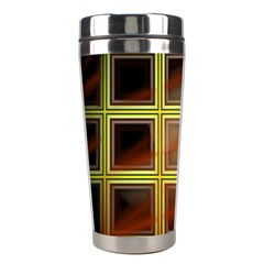 Drawing Of A Color Fractal Window Stainless Steel Travel Tumblers