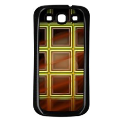 Drawing Of A Color Fractal Window Samsung Galaxy S3 Back Case (Black)