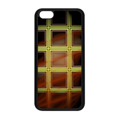 Drawing Of A Color Fractal Window Apple Iphone 5c Seamless Case (black)