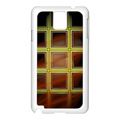 Drawing Of A Color Fractal Window Samsung Galaxy Note 3 N9005 Case (white)