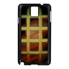 Drawing Of A Color Fractal Window Samsung Galaxy Note 3 N9005 Case (black)