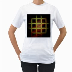 Drawing Of A Color Fractal Window Women s T-Shirt (White)