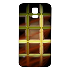 Drawing Of A Color Fractal Window Samsung Galaxy S5 Back Case (white)