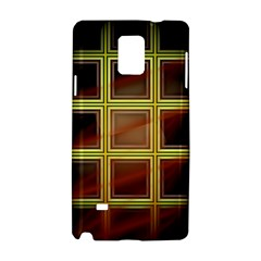 Drawing Of A Color Fractal Window Samsung Galaxy Note 4 Hardshell Case