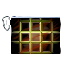 Drawing Of A Color Fractal Window Canvas Cosmetic Bag (L)