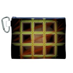 Drawing Of A Color Fractal Window Canvas Cosmetic Bag (xl)
