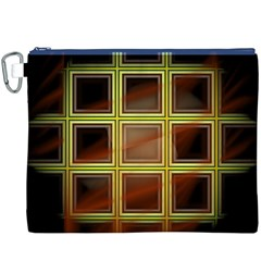 Drawing Of A Color Fractal Window Canvas Cosmetic Bag (xxxl)