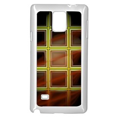 Drawing Of A Color Fractal Window Samsung Galaxy Note 4 Case (white)
