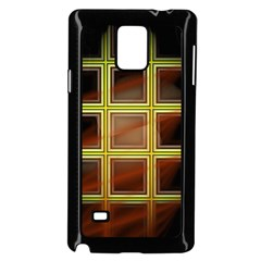 Drawing Of A Color Fractal Window Samsung Galaxy Note 4 Case (black)