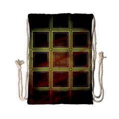 Drawing Of A Color Fractal Window Drawstring Bag (Small)