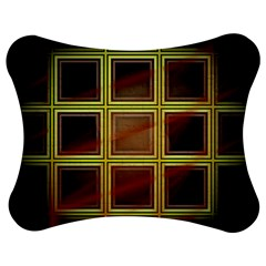 Drawing Of A Color Fractal Window Jigsaw Puzzle Photo Stand (Bow)