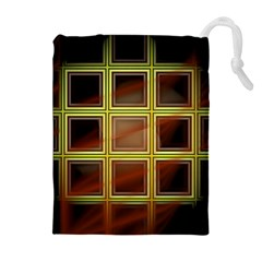 Drawing Of A Color Fractal Window Drawstring Pouches (extra Large)