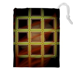 Drawing Of A Color Fractal Window Drawstring Pouches (xxl)