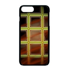 Drawing Of A Color Fractal Window Apple Iphone 7 Plus Seamless Case (black)