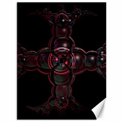 Fractal Red Cross On Black Background Canvas 36  X 48