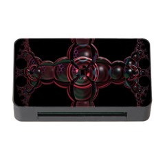 Fractal Red Cross On Black Background Memory Card Reader With Cf