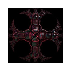 Fractal Red Cross On Black Background Acrylic Tangram Puzzle (6  X 6 )