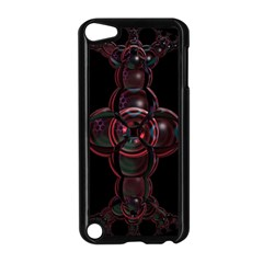 Fractal Red Cross On Black Background Apple Ipod Touch 5 Case (black)