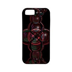 Fractal Red Cross On Black Background Apple Iphone 5 Classic Hardshell Case (pc+silicone)