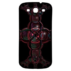 Fractal Red Cross On Black Background Samsung Galaxy S3 S Iii Classic Hardshell Back Case