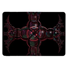 Fractal Red Cross On Black Background Samsung Galaxy Tab 8.9  P7300 Flip Case
