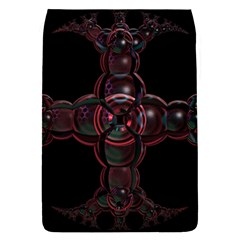 Fractal Red Cross On Black Background Flap Covers (l)
