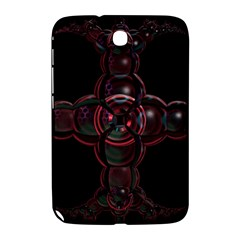 Fractal Red Cross On Black Background Samsung Galaxy Note 8 0 N5100 Hardshell Case