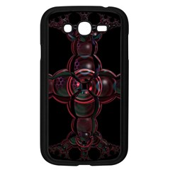 Fractal Red Cross On Black Background Samsung Galaxy Grand DUOS I9082 Case (Black)