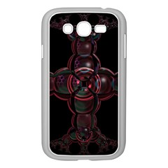 Fractal Red Cross On Black Background Samsung Galaxy Grand Duos I9082 Case (white)