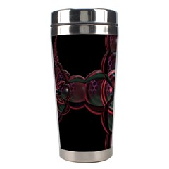 Fractal Red Cross On Black Background Stainless Steel Travel Tumblers