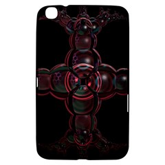 Fractal Red Cross On Black Background Samsung Galaxy Tab 3 (8 ) T3100 Hardshell Case
