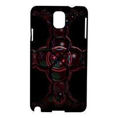 Fractal Red Cross On Black Background Samsung Galaxy Note 3 N9005 Hardshell Case