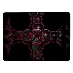 Fractal Red Cross On Black Background Samsung Galaxy Tab Pro 12 2  Flip Case