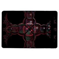 Fractal Red Cross On Black Background Ipad Air Flip